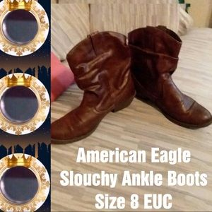 🍁FALL FOR🍁 AE Slouchy Brown Boots For Fall